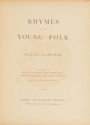 "Cover of ""Rhymes for the young folk"""