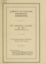 "Cover of ""Abbott H. Thayer memorial exhibition"""