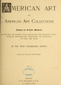"""Cover of """"American art and American art collections"""""""
