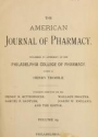 """Cover of """"American journal of pharmacy"""""""