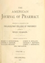 "Cover of ""American journal of pharmacy"""