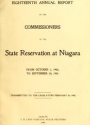 "Cover of ""Annual report of the Commissioners of the State Reservation at Niagara"""