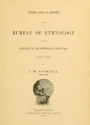"""Cover of """"Annual report of the Bureau of Ethnology to the Secretary of the Smithsonian Institution"""""""