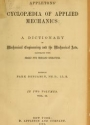 """Cover of """"Appletons' cyclopaedia of applied mechanics"""""""