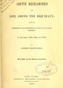 """Cover of """"Arctic researches, and life among the Esquimaux being the narrative of an expedition in search of Sir John Franklin, in the years 1860, 1861, and 1862"""""""