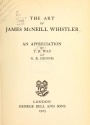 """Cover of """"The art of James McNeill Whistler"""""""