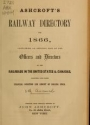 """Cover of """"Ashcroft's railway directory for"""""""