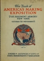 "Cover of ""The book of America's Making Exposition"""