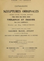 "Cover of ""Catalogue de sculptures originales"""