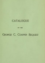 "Cover of ""Catalogue of a collection of engravings and etchings"""