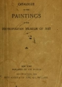 """Cover of """"Catalogue of the paintings"""""""