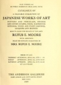 """Cover of """"Catalogue of a valuable collection of Japanese works of art, pottery and porcelain; swords and sword guards; inros, kakemonos, netsukes; wood and ivor"""""""