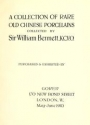 "Cover of ""A collection of rare old Chinese porcelains collected by Sir William Bennett, K.C.V.O"""