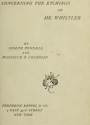 """Cover of """"Concerning the etchings of Mr. Whistler /"""""""