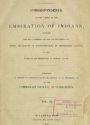 "Cover of ""Correspondence on the subject of the emigration of Indians"""