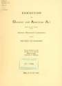 "Cover of ""Exhibition of Oriental and American art"""