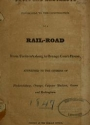 "Cover of ""Facts and arguments favorable to the construction of a rail-road from Fredericksburg to Orange court-house"""