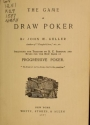 """Cover of """"The game of draw poker"""""""