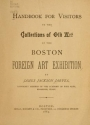 "Cover of ""Handbook for visitors to the collections of old art of the Boston Foreign Art Exhibition"""