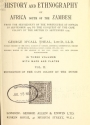 "Cover of ""History of Africa south of the Zambesi"""