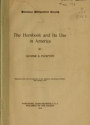 "Cover of ""The hornbook and its use in America /"""