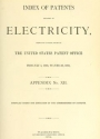 "Cover of ""Index of patents relating to electricity"""