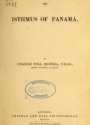 """Cover of """"The isthmus of Panamá"""""""