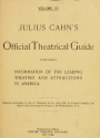"""Cover of """"Julius Cahn's official theatrical guide"""""""