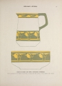 Illustration showing design for a child's pitcher and bowl by Margaret Overbeck