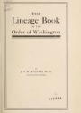 "Cover of ""The lineage book of the Order of Washington"""