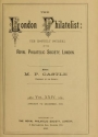 "Cover of ""The London philatelist"""
