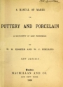 "Cover of ""A manual of marks on pottery and porcelain"""