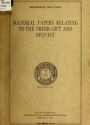 """Cover of """"Material papers relating to the Freer gift and bequest /"""""""
