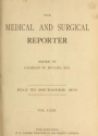 """Cover of """"The Medical and surgical reporter"""""""