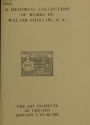 "Cover of ""A memorial collection of works by Walter Shirlaw, N. A"""