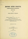 "Cover of ""More Dak dicta"""