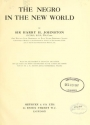 "Cover of ""The Negro in the New world,"""