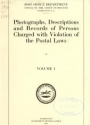 """Cover of """"Photographs, descriptions and records of persons charged with violation of the postal laws /"""""""