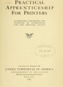 "Cover of ""Practical apprenticeship for printers"""