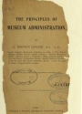 """Cover of """"The principles of museum administration"""""""