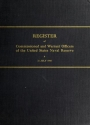 "Cover of ""Register of commissioned and warrant officers of the United States Naval Reserve"""