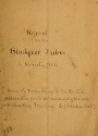"""Cover of """"Report on the Blackfoot tribes"""""""