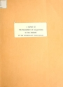 """Cover of """"A report on the management of collections in the museums of the Smithsonian Institution"""""""