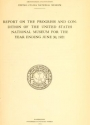 """Cover of """"Report on the progress and condition of the United States National Museum"""""""