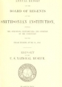 """Cover of """"Report upon the condition and progress of the U.S. National Museum during the year ending June 30"""""""