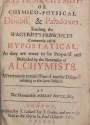 "Cover of ""The sceptical chymist or, Chymico-physical doubts & paradoxes"""