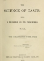 "Cover of ""The science of taste"""