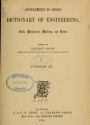 """Cover of """"Supplement to Spons ̓dictionary of engineering, civil, mechanical, military, and naval"""""""