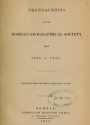 """Cover of """"Transactions of the Bombay geographical society"""""""