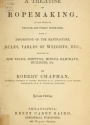 """Cover of """"A treatise on ropemaking"""""""